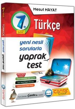 7.Sınıf  Yaprak Test Türkçe 2019 - 14,90